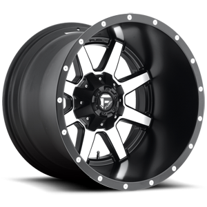 Fuel Deep Lip Wheels Maverick - D537 5 Matte Black & Machined Face