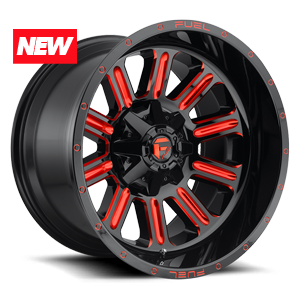 Fuel 1-Piece Wheels Hardline - D621 5 Gloss Black w/ Candy Red