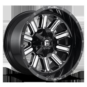Fuel 1-Piece Wheels Hardline - D620 5 Gloss Black & Milled