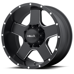 Helo Wheels HE886 8 Satin Black w/ Milled Spokes & Flange