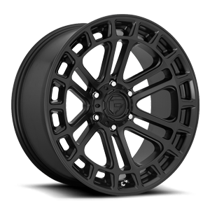 Heater - D718 Matte Black 6 lug