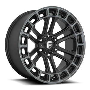 Heater - D720 Matte Black/Machined/DDT 6 lug
