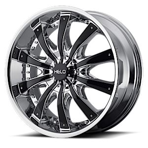 Helo Wheels HE875 5 Chrome w/ Gloss Black Accents