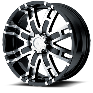 Helo Wheels HE835 6 Gloss Black Machined