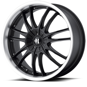 Helo Wheels HE845 5 Gloss Black Machined