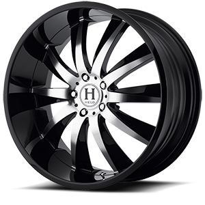 Helo Wheels HE851 5 Gloss Black w/ Machined Face