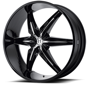 Helo Wheels HE866 5 Gloss Black w/ Chrome Accents