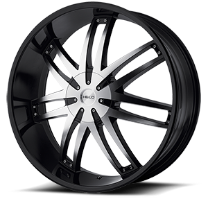 Helo Wheels HE868 6 Gloss Black w/Machine