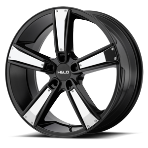 Helo Wheels HE899 5 Satin Black w/ Gloss Black & Chrome Inserts