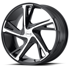 Helo Wheels HE902 5 Gloss Black Machined