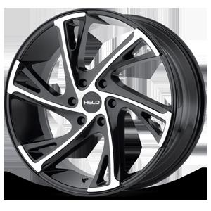Helo Wheels HE903 6 Gloss Black Machined