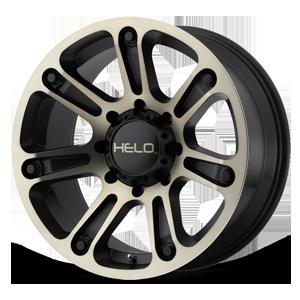 Helo Wheels HE904 8 Satin Black Machined w/ Dark Tint Clear Coat