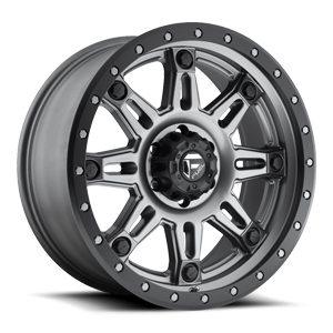 Fuel 1-Piece Wheels Hostage III - D568 5 Matte Anthracite w/ Black Ring