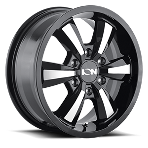 Ion Alloy Wheels 102 6 Black with Machined Face