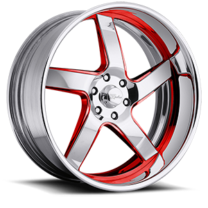Raceline Wheels Illusion 6 5 Red