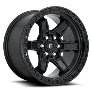 Kicker 6 - D697 Matte Black 6 lug