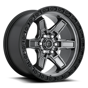 Kicker 6 - D698 Anthracite w/ Black Lip 6 lug
