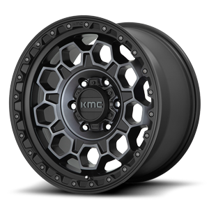 KM545-Trek Satin Black Machined w/ Gray Tint 6 lug