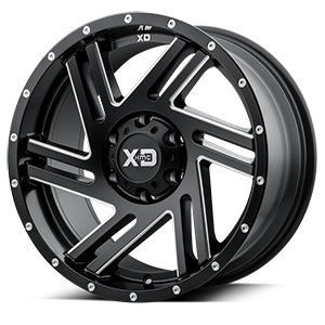 XD Series by KMC XD835 Swipe 6 Satin Black Milled