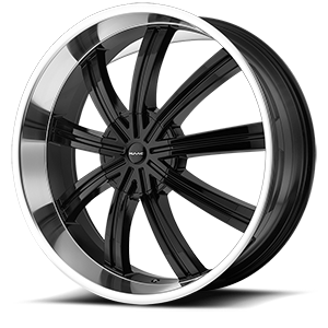 KMC Wheels KM672 Widow 6 Gloss Black w/ Machined Face