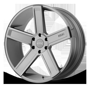 KMC Wheels KM702 Deuce 6 Satin Grey Milled