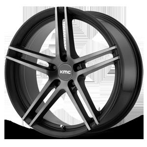 KMC Wheels KM703 Monophonic 5 Satin Black w/ Titanium Black Face