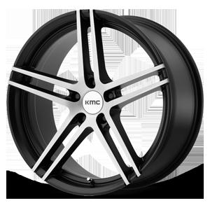 KMC Wheels KM703 Monophonic 5 Satin Black Brushed