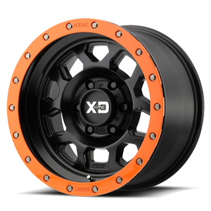 XD Series by KMC XD132 RG2 6 Satin Black w/ Optional Speed Orange Ring