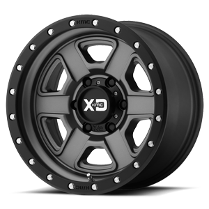 XD133 Fusion Off-Road Satin Gray w/ Satin Black Lip 6 lug