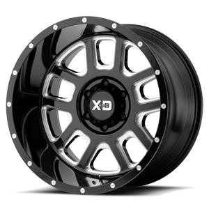 XD Series by KMC XD828 Delta 6 Gloss Black Milled