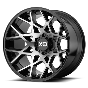 XD Series by KMC XD831 Chopstix 6 Gloss Black Machined