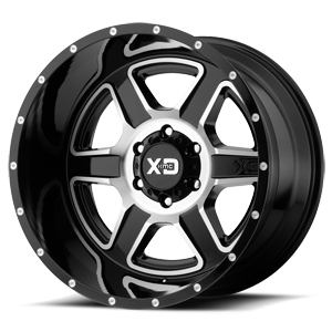 XD Series by KMC XD832 Fusion 6 Gloss Black Machined