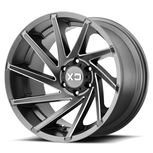 XD Series by KMC XD834 Cyclone 6 Satin Grey Milled