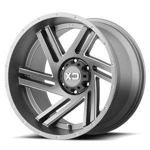 XD Series by KMC XD835 Swipe 6 Satin Grey Milled
