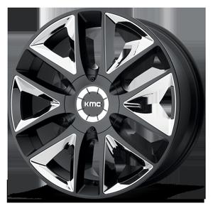 KMC Wheels KM710 Takedown 6 Satin Black with Chrome Inserts