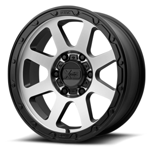 XD134 Addict 2 Matte Black Machined 6 lug