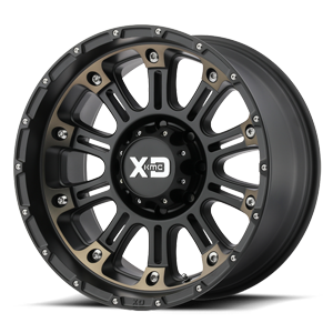 XD Series by KMC XD829 Hoss 2 8 Satin Black Machined w/ Dark Tint Clear Coat