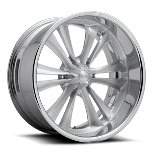 Knuckle Six - F227 Brushed w/ Gloss Clear 6 lug