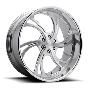 Kompressor 6 - Forged Street Brushed w/ Polished Lip 6 lug