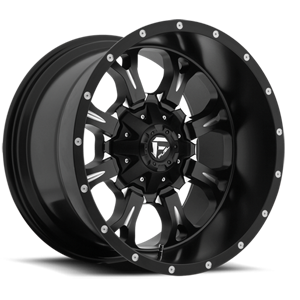 Fuel Deep Lip Wheels Krank - D517 5 Matte Black & Milled