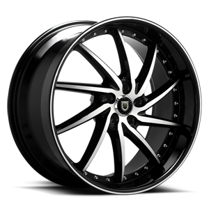 Lexani Wheels Artemis 5 Black Machined