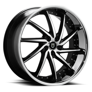 Lexani Wheels Artemis 5 Black Machined w/ Stainless Lip