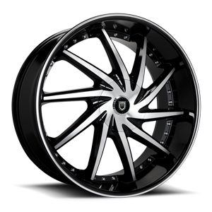 Lexani Wheels Artemis 6 Black Machined