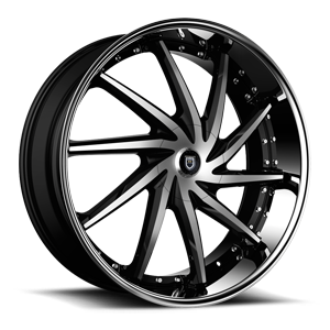 Lexani Wheels Artemis 6 Black Machined w/ Stainless Lip