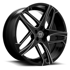 Lexani Wheels Bavaria 5 Black Milled