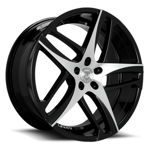 Lexani Wheels Bavaria 5 Machined with Black Lip