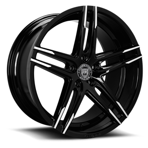Lexani Wheels Bremen 5 Black w/ Milled Accents