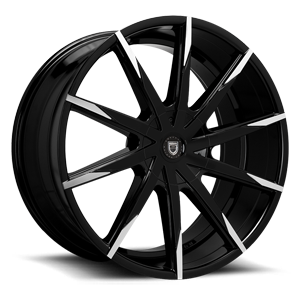 Lexani Wheels CSS-15 5 Black & Machined