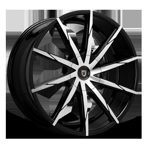 Lexani Wheels CSS-15 5 Black & Machined Face