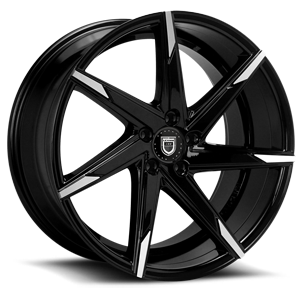 Lexani Wheels CSS-7 5 Black & Machined Face